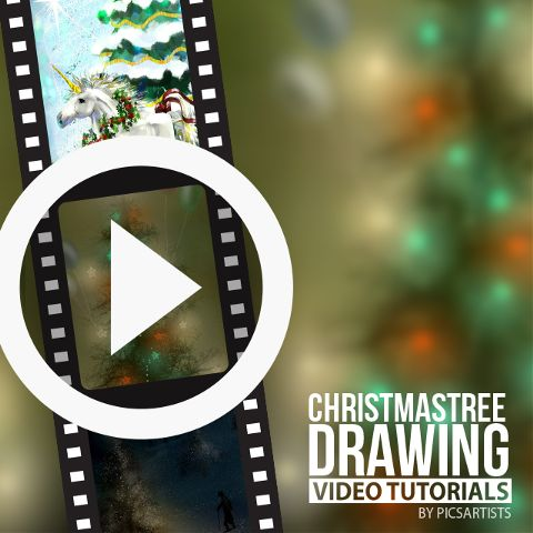 Christmas tree drawing time lapse videos