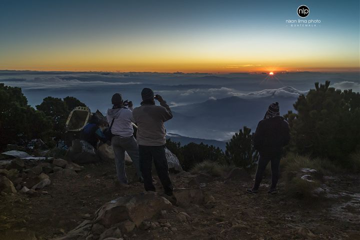 sunrise guatemala landscape adventure travel