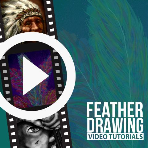 feather drawing time lapse video