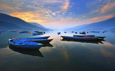 nepal pokhara lake beauty