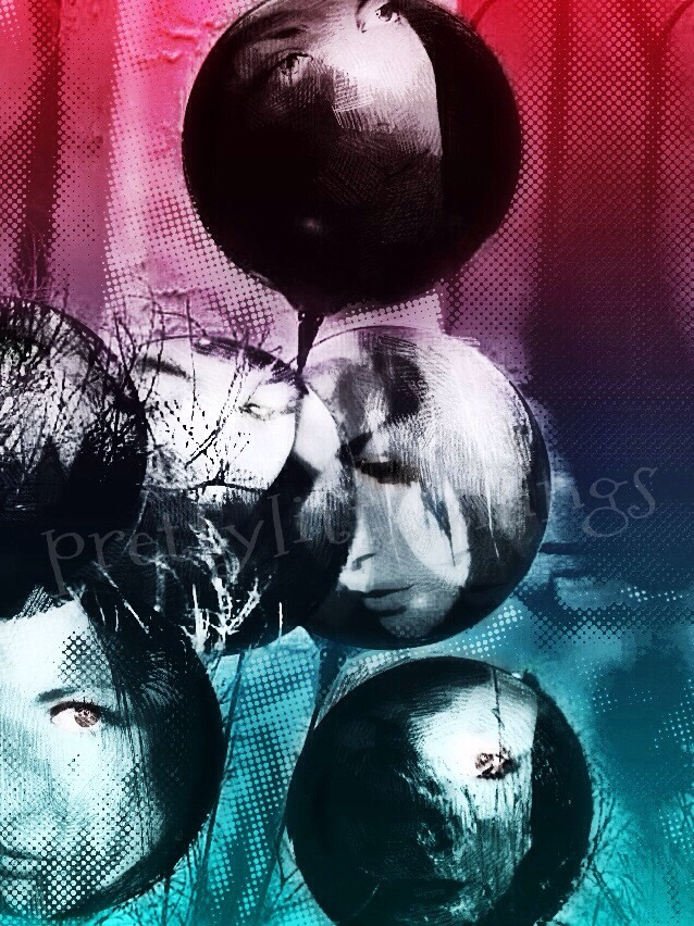 """#selfportrait balloon""""   pic by @libby_margie my edition    #popart  #hdr #editstepbystep"""