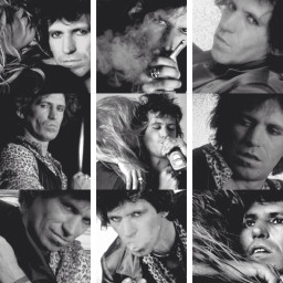 keith richards the rolling stones collage my edit