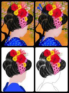 stepbystepdrawing drawstepbystep geisha japanese colorful