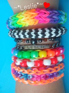 bracelet loom lesliecreation photography colorful