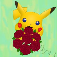 dcrose drawing rose pikachu pokemon