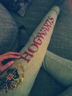 nails hogwarts jogging harrypotter grey