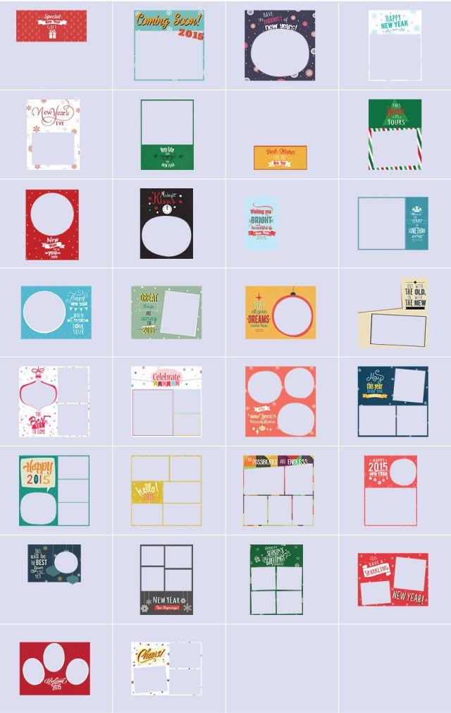 New Year 2015 frames