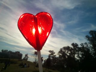 love lollipop candy heart nature