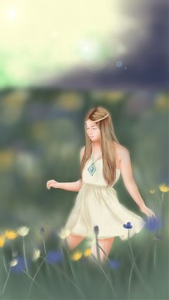 art drawing people love spring