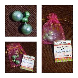 christmasph christmasgift lateposts earrings green
