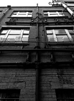 wall house dublin ireland blackandwhite