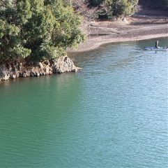 japan nature lake green blue