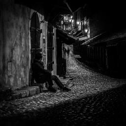 blackandwhite streetphotography city dark mood